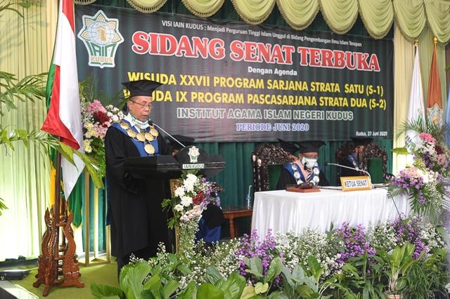 Gelar Wisuda Online, Berikut Pesan Rektor IAIN Kudus
